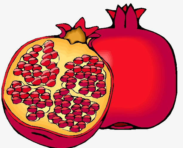 Pomegranate clipart pomegranate fruit. Red png image and