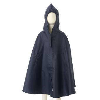 Poncho drawing rain jacket. Kids waterproof cape in