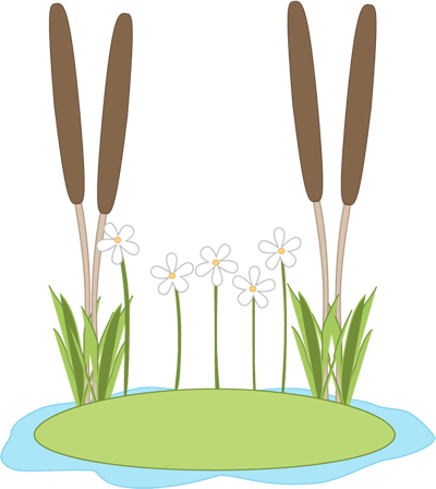 Pond clipart lilly pad. Lily in a clip