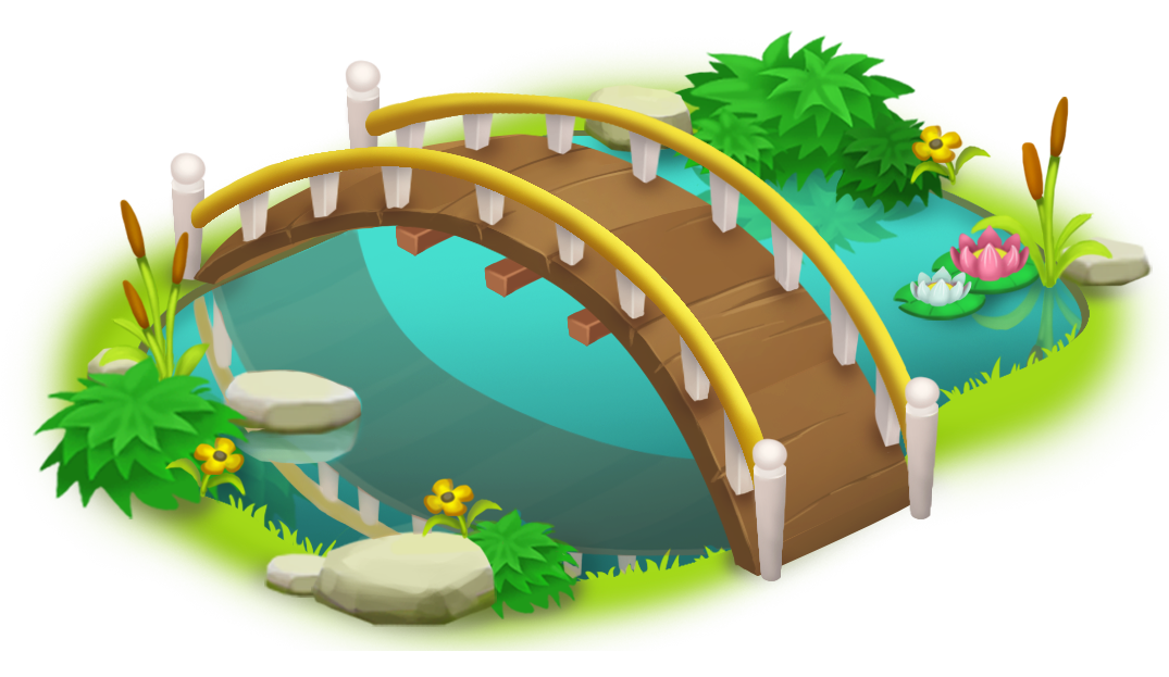 And pond png clip. Bridge clipart image free library