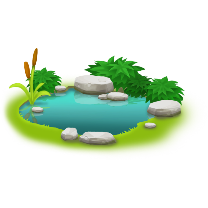Pond transparent. Image small png hay