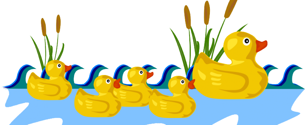 Pond transparent duck. Game clip art small