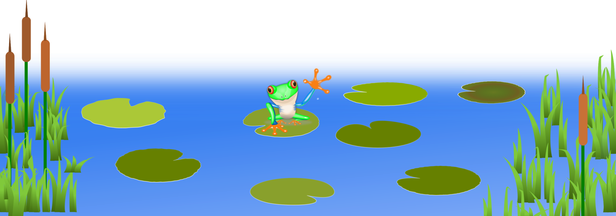 Pond transparent lily pad clipart. Frogs and fish amphibian