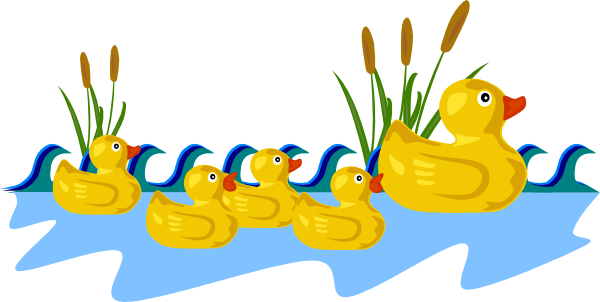 Pond vector. Duck clipart