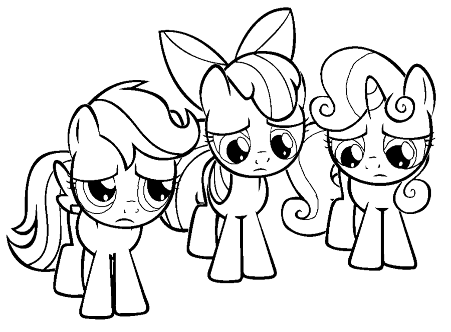 Pony clipart colouring page. My little coloring cutie