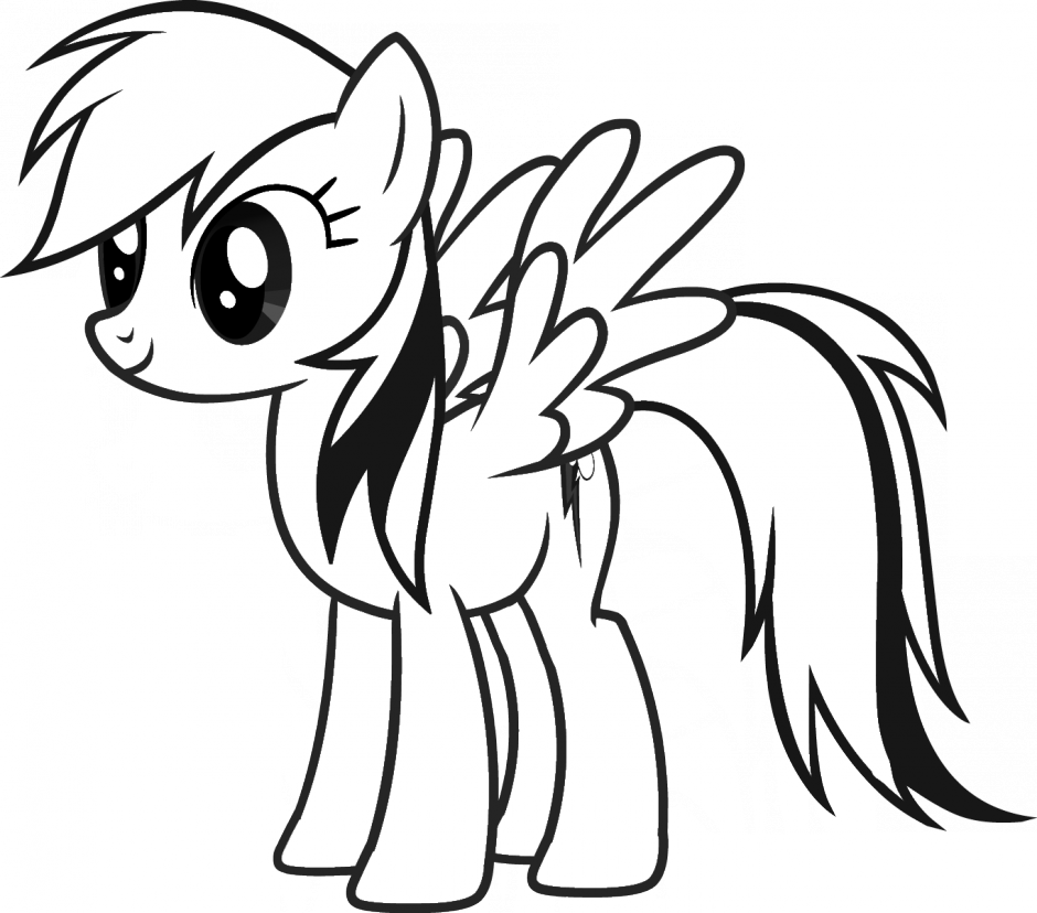 Pony Clipart Colouring Page Picture 1671167 Pony Clipart