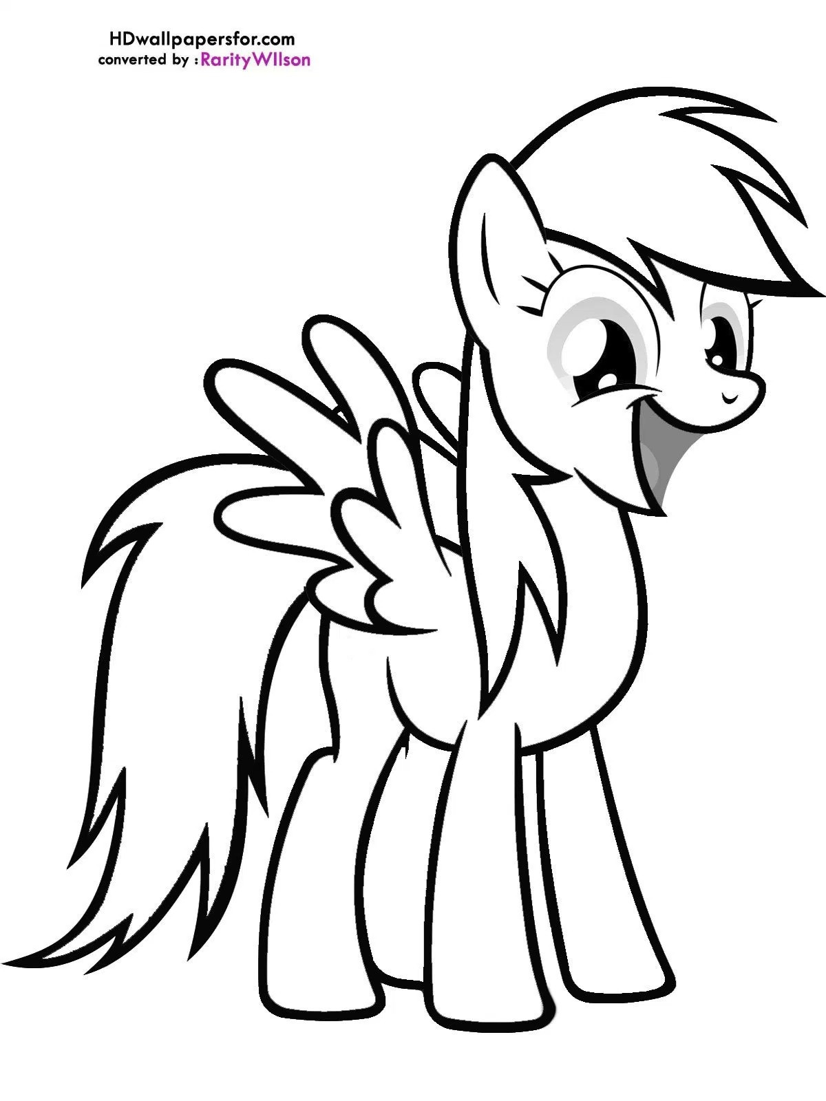 Pony clipart colouring page. My little friendship is