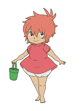 Ponyo transparent. Clear background by lycheepuddn