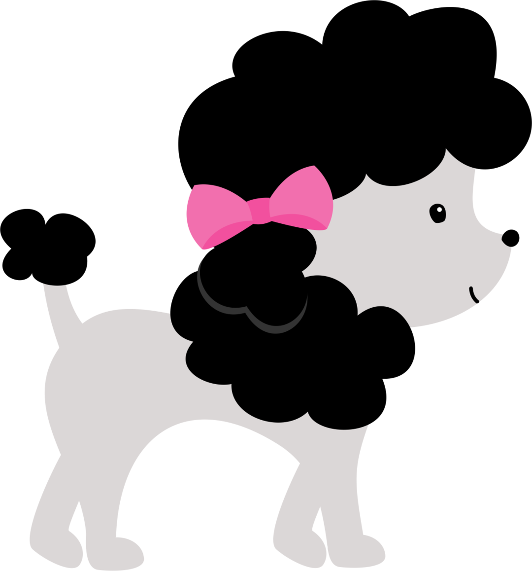 Poodle svg clip art. Black and white