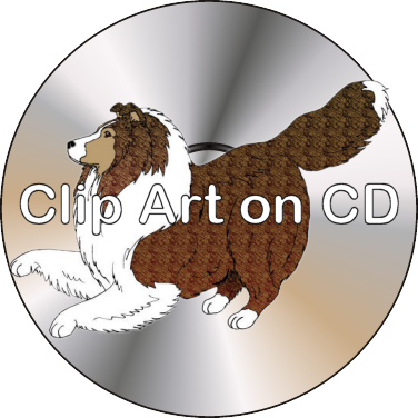 Poodle clip airedale. Art on cd shetland