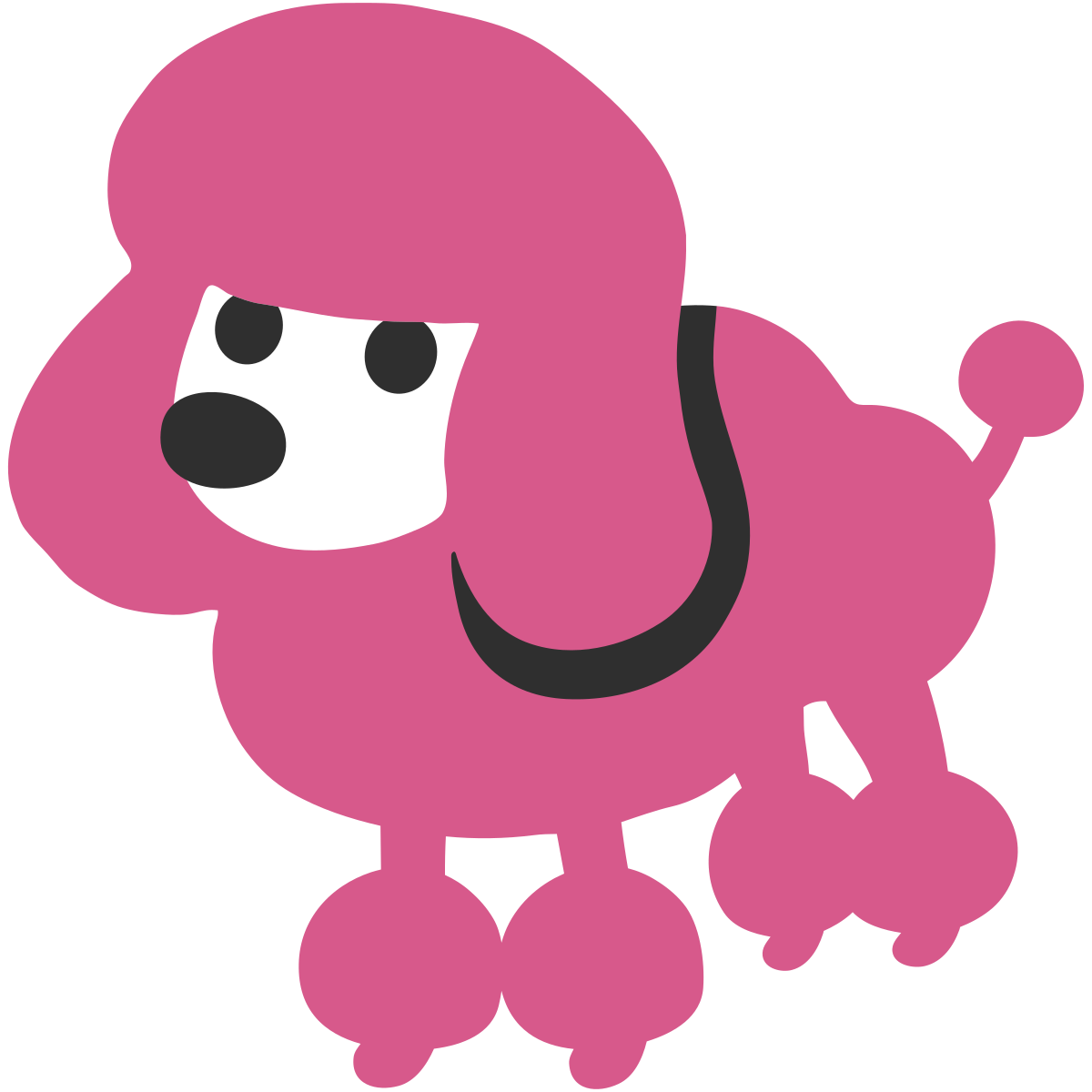 Poodle svg paper. Toy clipart at getdrawings