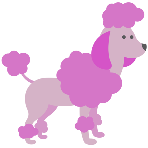 Poodle clip sweetheart. T shirt