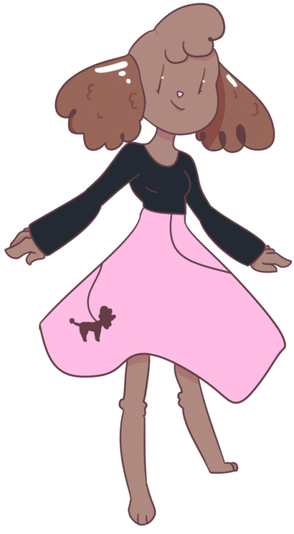 Poodle skirt png. Fursona tumblr with a