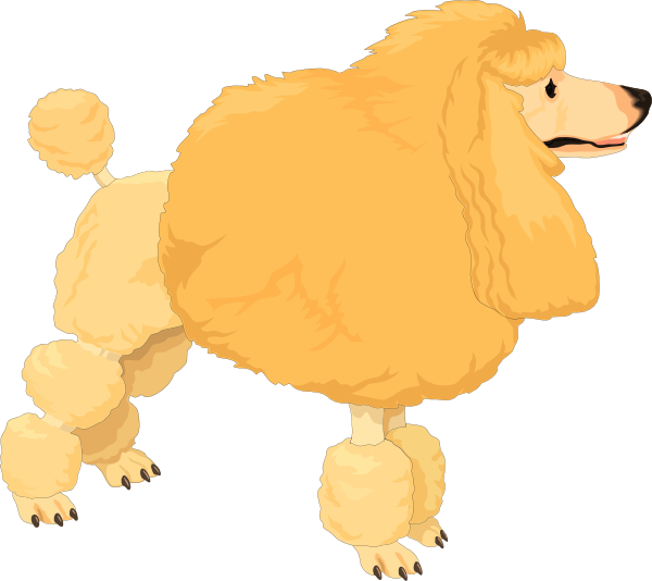 Poodle svg clip art. Fluffy yellow at clker