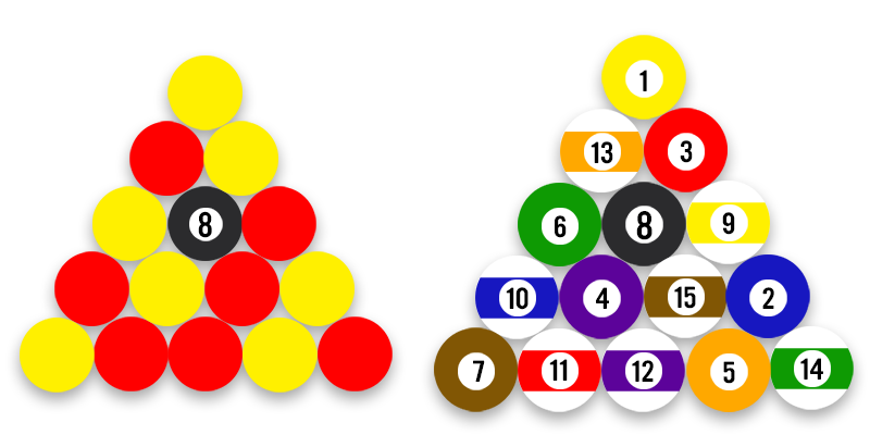 Pool ball rack png. How are and different