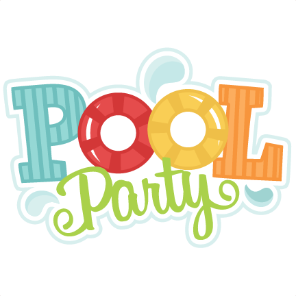 Pool party png. Svg cutting files swimming