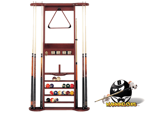 Pool clip cue holder. Wall rack with