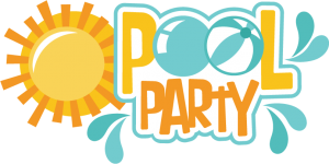Pool clip party word. Words royalty free