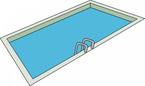 Pool transparent public. Swimming and spa inspection