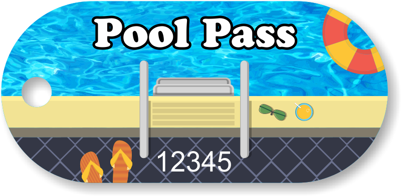 Pool clip summer. Pass in oblong circle