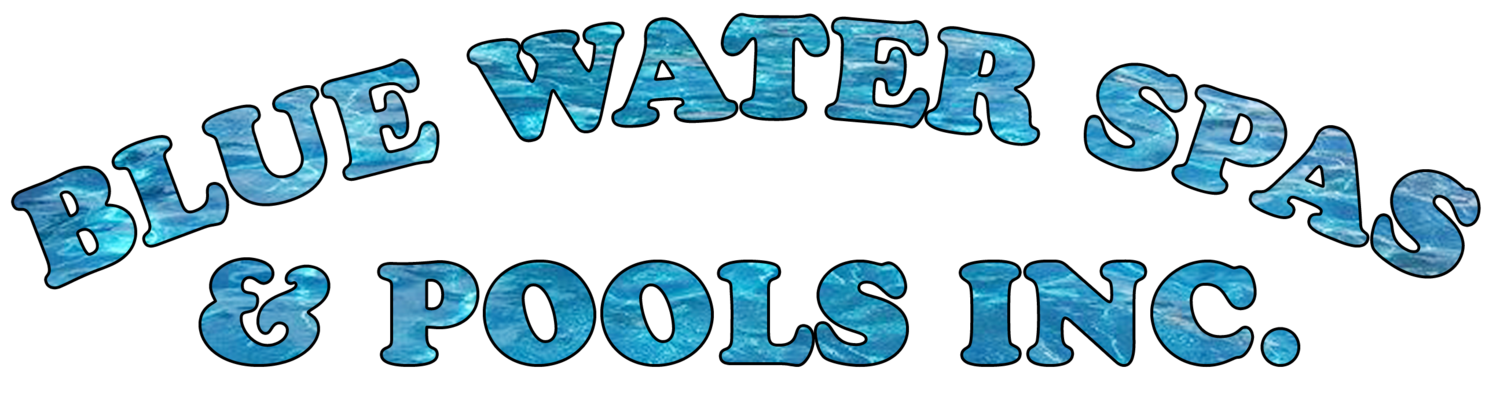 Pool clip water activity. Blue spas and pools