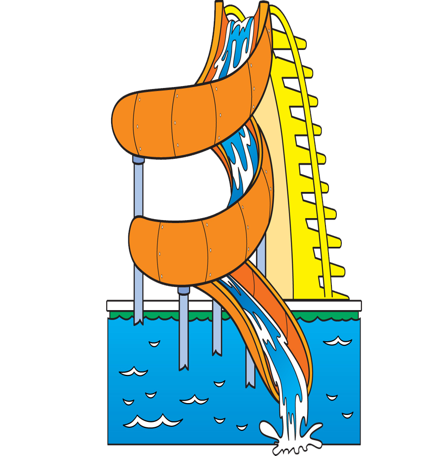 Pool clip water slide. Clipart library free