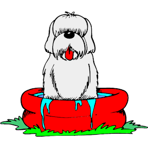 Pool clipart dog. In