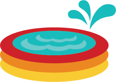 Pool clip summer. Kiddie svg file for