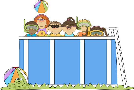 Pool clipart kiddie pool. Swimming clip art borders
