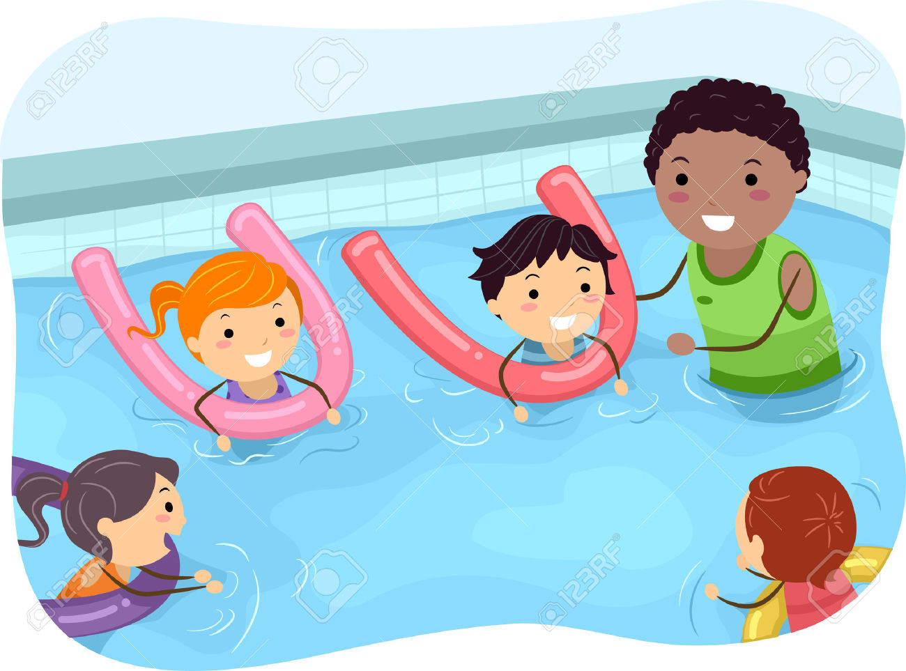 Pool clipart swimming class. Collection of kids