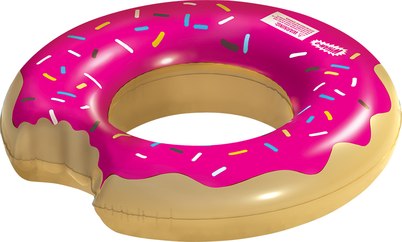 doughnut transparent frosted
