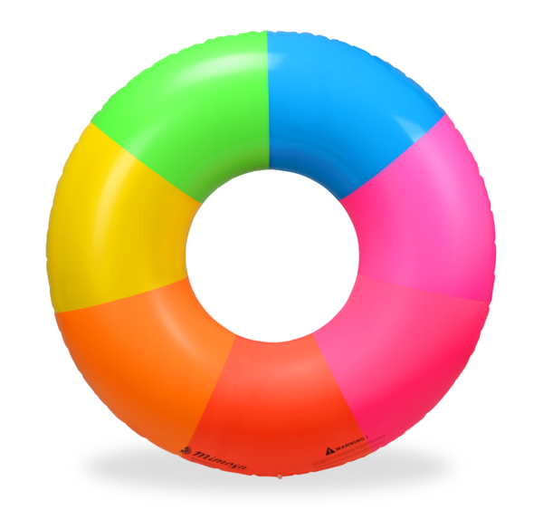 Pool float png. Rainbow round tube mimosa