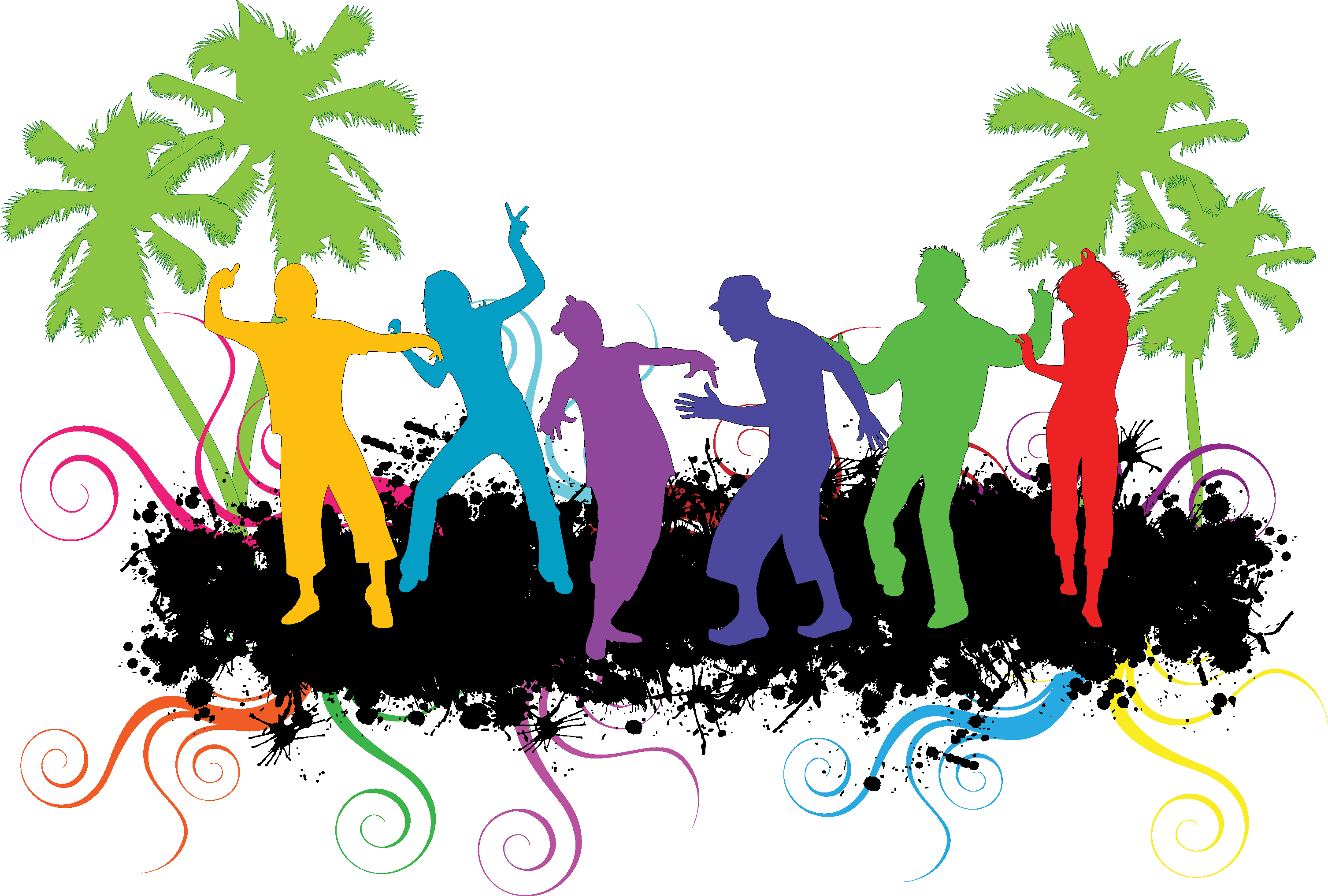 People silhouette at getdrawings. Disco vector farewell party clip free