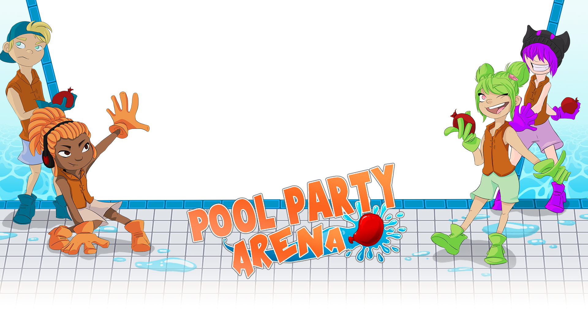 Pool party frame png. Arena