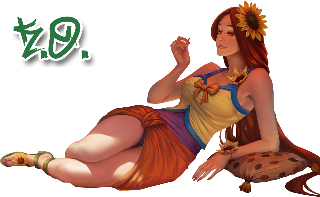 Pool party leona png. Render by kenjiokumura on