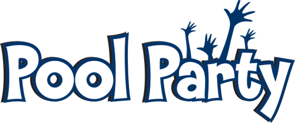 Pool party logo png. Opening and crawfish boil