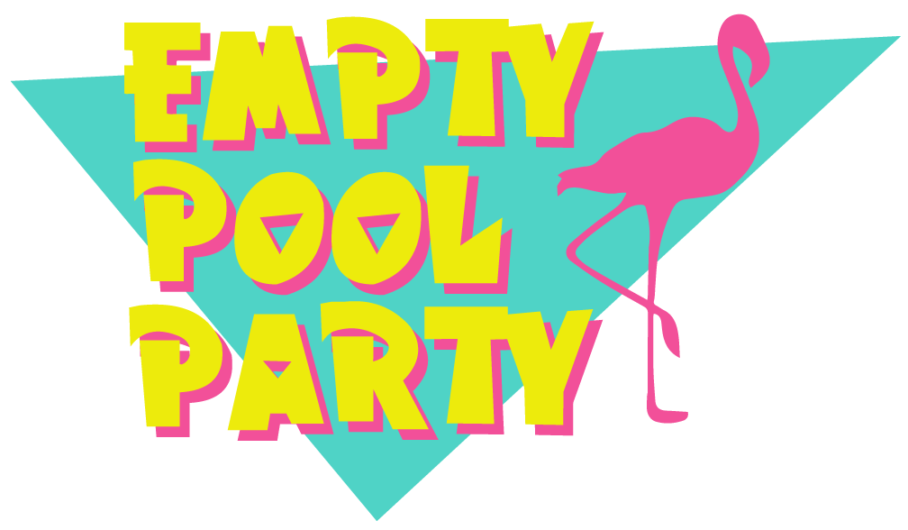 Pool clip party. Empty september