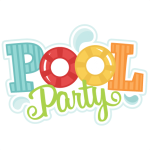Pool party word art png. Free cliparts download clip