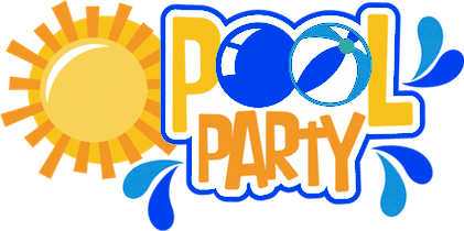 Pool party word art png. Youth guyandotte church of