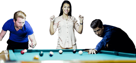 People playing pool png. Party clicks billiards first
