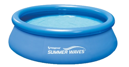 Pool transparent inflatable. Summer waves round ring