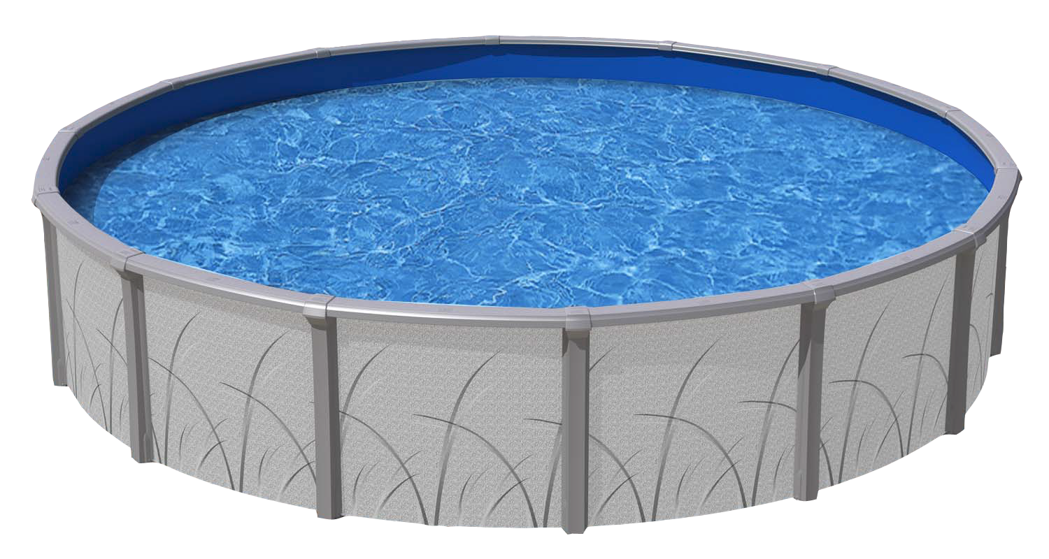 Pool transparent above ground. Round mirage royal