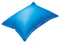 Pool transparent air. Ice expansion pillows for