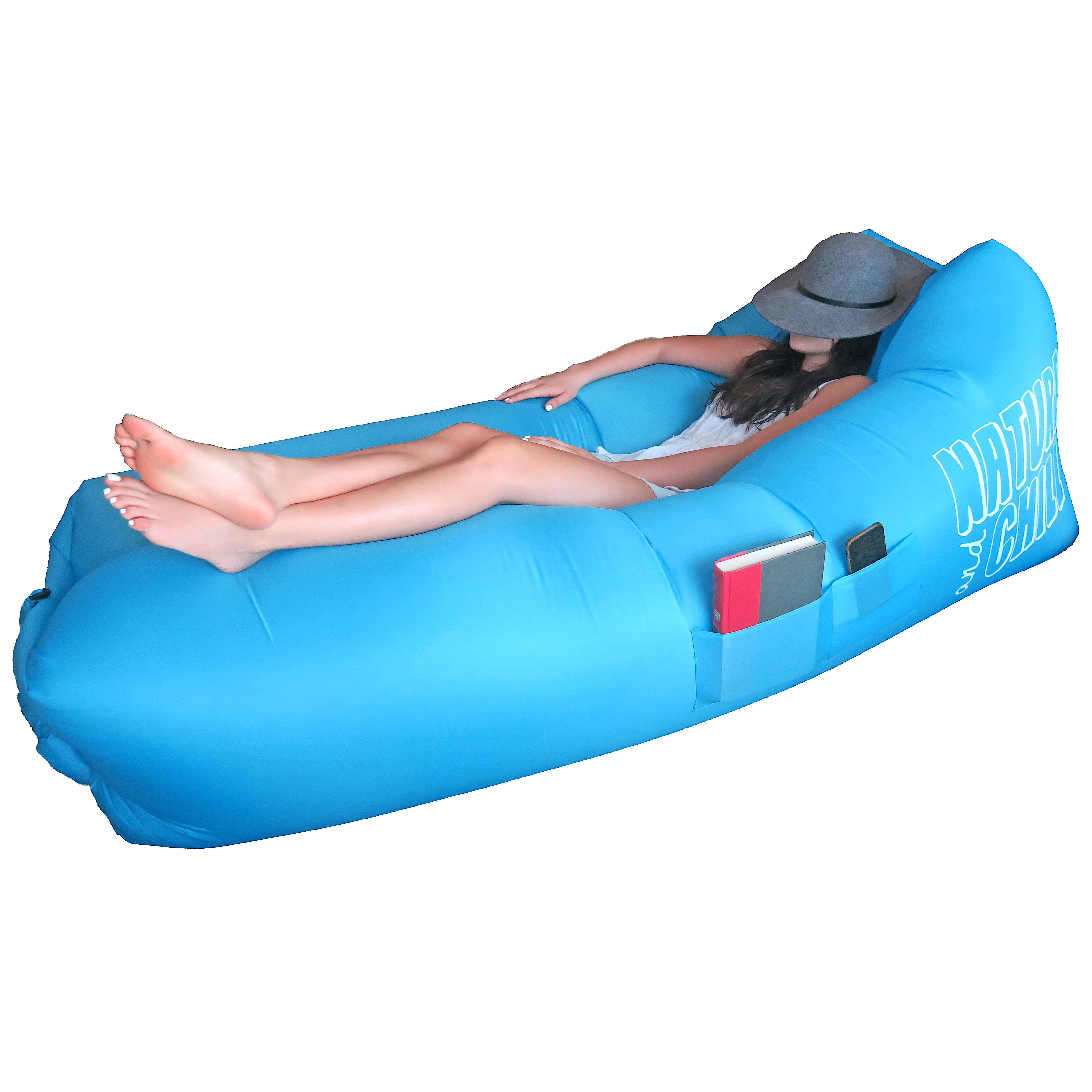 Swimming transparent inflatable. The best air lounger