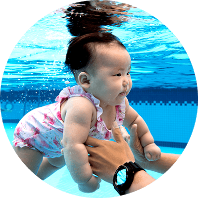 Pool transparent baby. Lesson