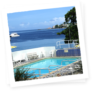 Pool transparent hotel. Evergreen dominica you may