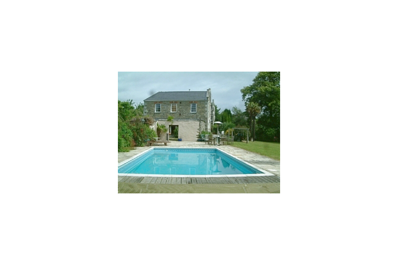 Swimming transparent house. Large grade ii listed