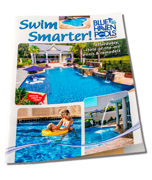 Pool transparent infinity. Brochure swimming construction overview