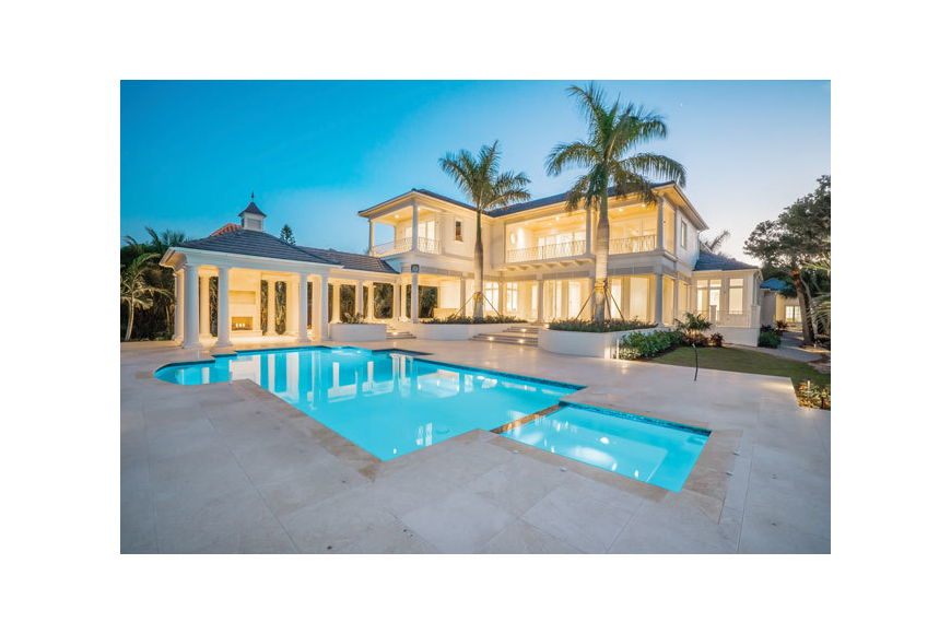Pool transparent mansion. Luxury redefined longboat key