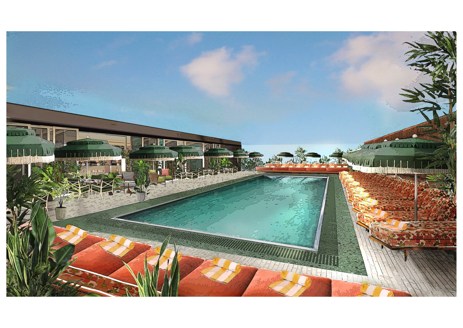 Pool transparent rooftop. First look the new